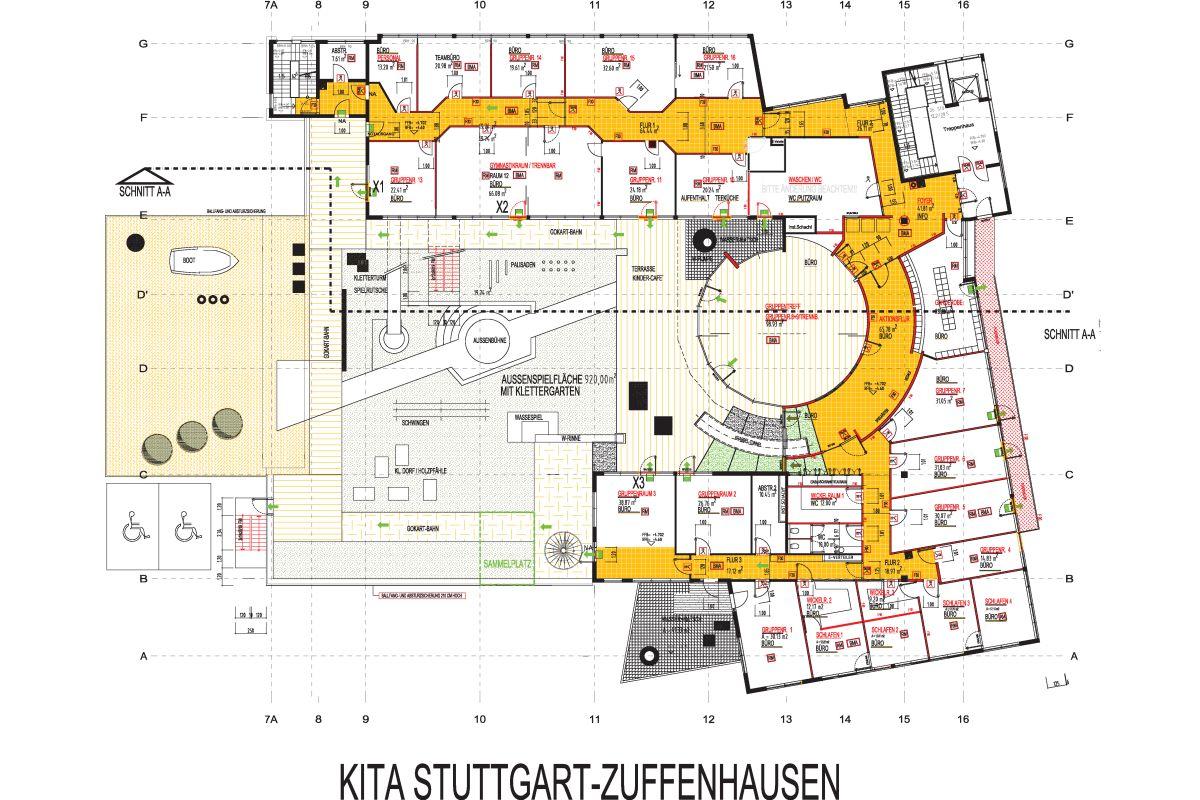 kita stuttgart zuffenhausen belle terrasse kittelberger architekt. Black Bedroom Furniture Sets. Home Design Ideas